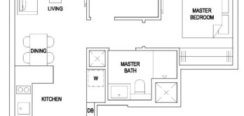 the-florence-residences-floor-plan-2-bedroom-classic-2c1-hougang-singapore