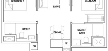 the-florence-residences-floor-plan-2-bedroom-deluxe-2d1-hougang-singapore