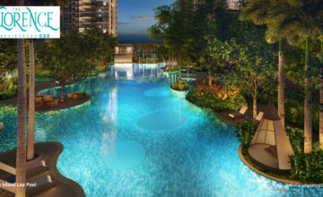 the-florence-residences-island-pool-evening-singapore